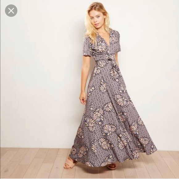d3e696df76c65 Anthropologie Dresses | The Odells Maxi Wrap Dress Xs | Poshmark
